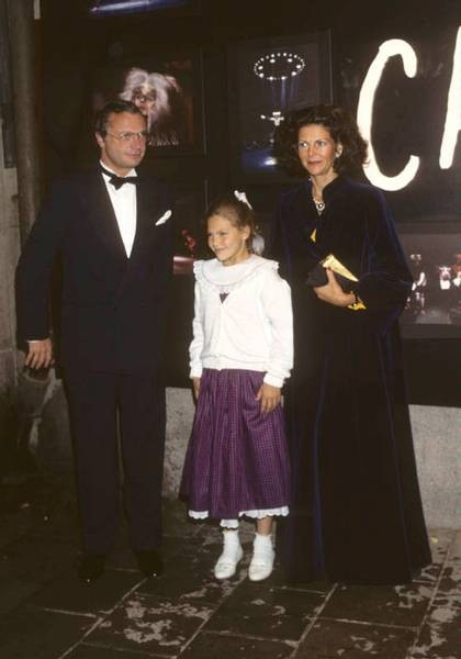 Le couple royal et Victoria en 1987