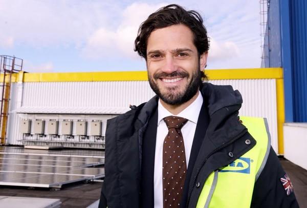 Le prince de Suède en visite à IKEA