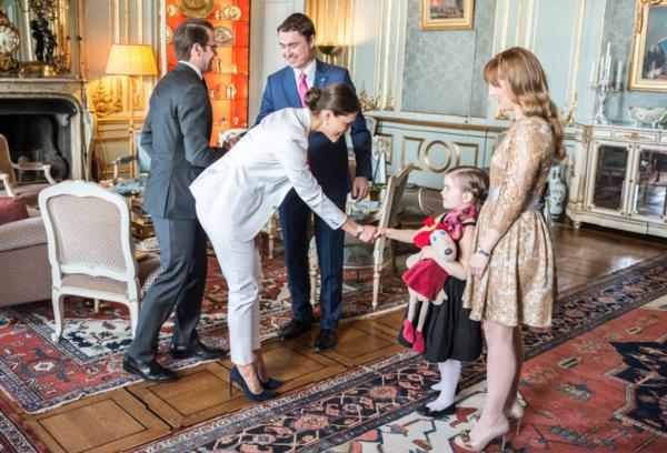 Publiczność w Pałacu Królewskiego w Sztokholmie -2
