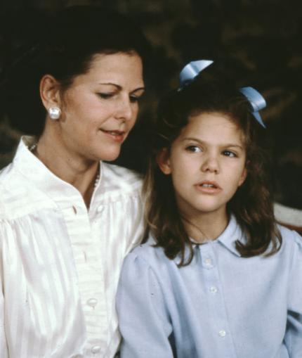 Mère et fille dans les années 80