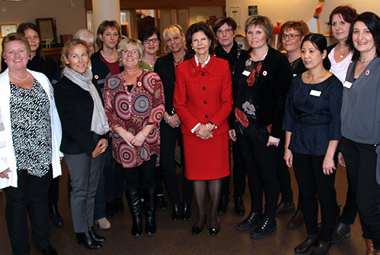 Drottningen besökte August Jansgården